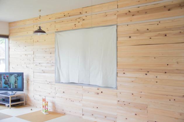 木の壁 DIY