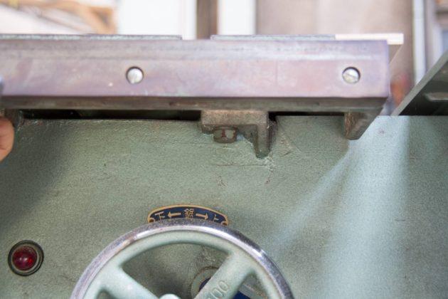 横切り盤 常盤 カミソリ メンテナンス
