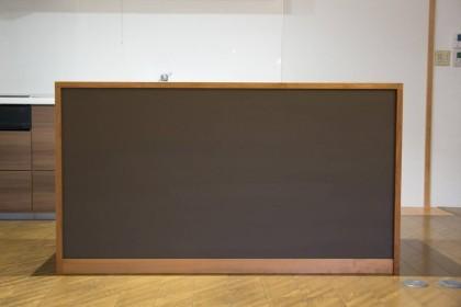 食器棚 カウンター 無垢 黒板