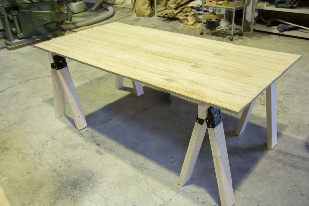 DIY テーブル 作業台 ソーホース