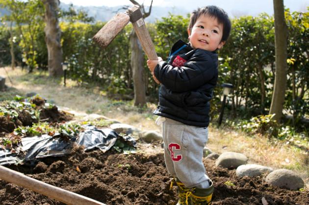 子ども 農作業