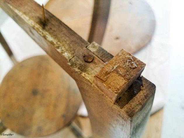 テーブル 家具 修理 反り アンティーク