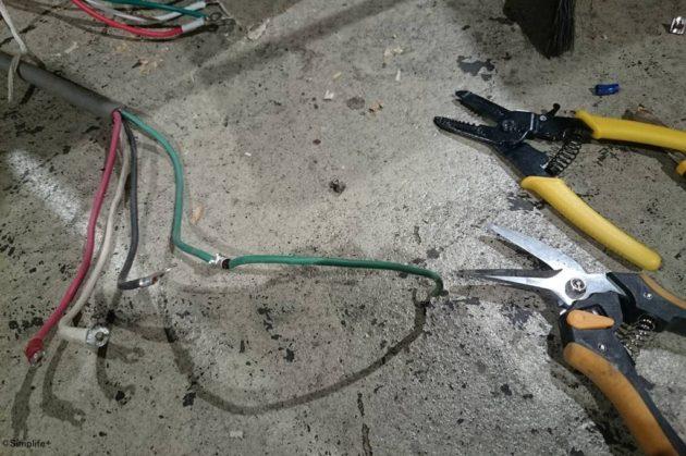 木工機械 配線 頭上