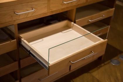 食器棚 カウンター 無垢