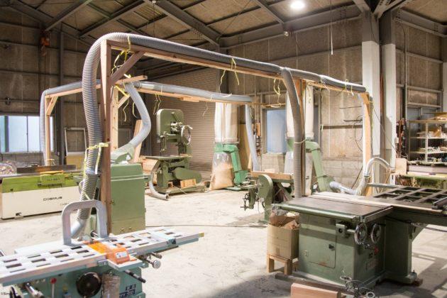 木工機械 配置変え 集塵 配管