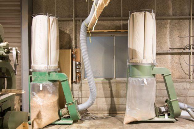 木工機械 バグフィルター 配置変え 集塵 配管 タコシック タコクロス