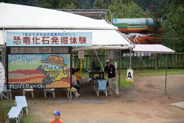 化石発掘体験 福井県立恐竜博物館 かつやま恐竜の森
