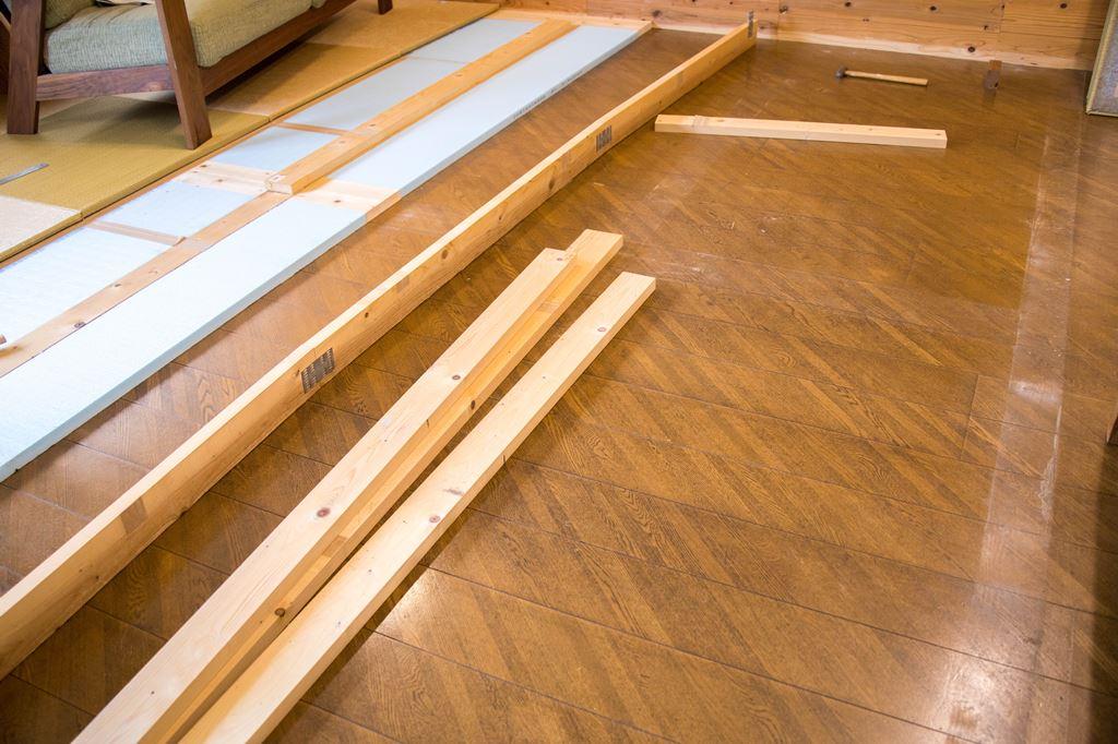 テーブル リビング リビング学習 琉球畳 フローリング DIY