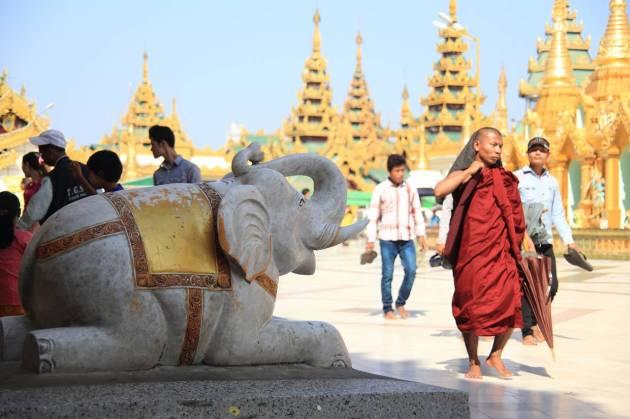Myanmar Yangon シュエダゴンパゴダ Shwedagon Pagoda