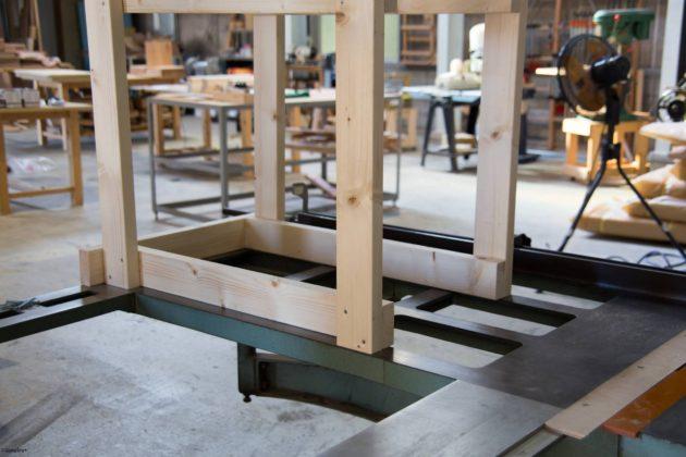 木製 作業 ワゴン DIY 2x4 2x4