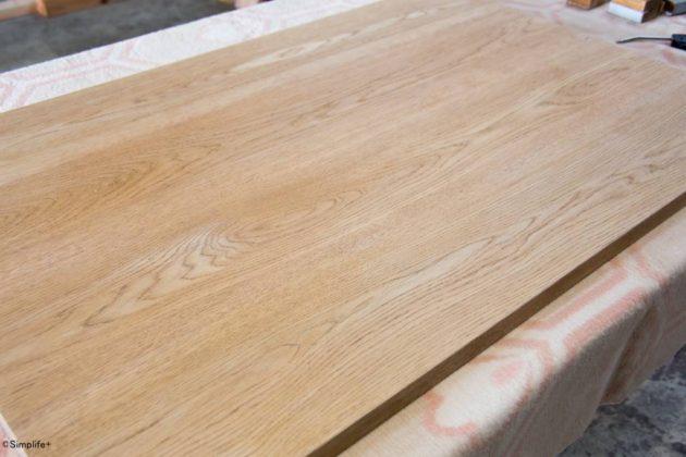 ローテーブル 磨きなおし 削り直し サンディング オイル塗装