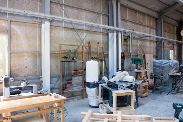 OSB合板 工房 壁 金属下地 ピアスビス
