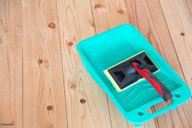 無垢 フローリング 塗装 オスモ OSMO フロアクリアー 杉